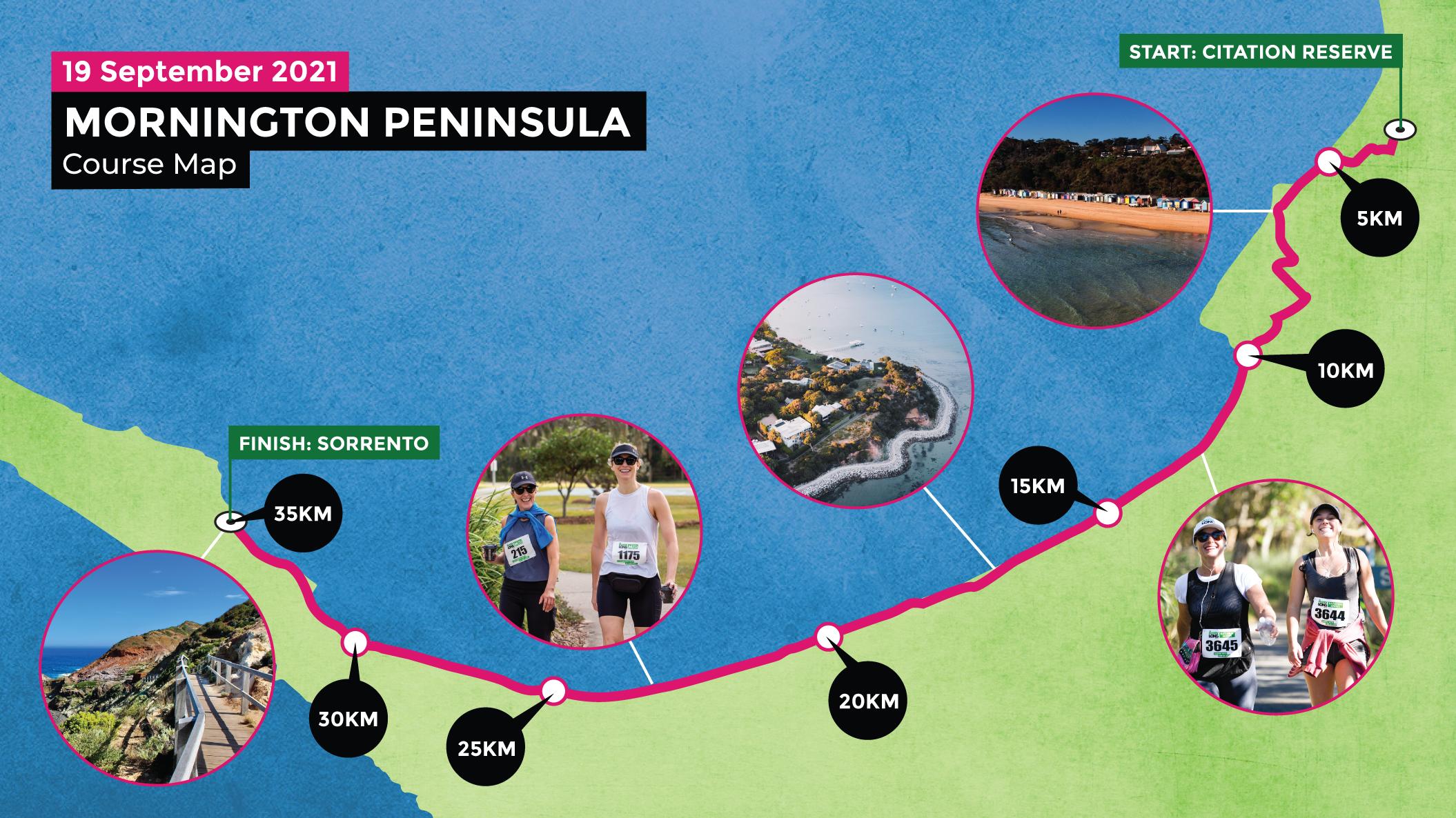 Melbourne Mornington Course Map